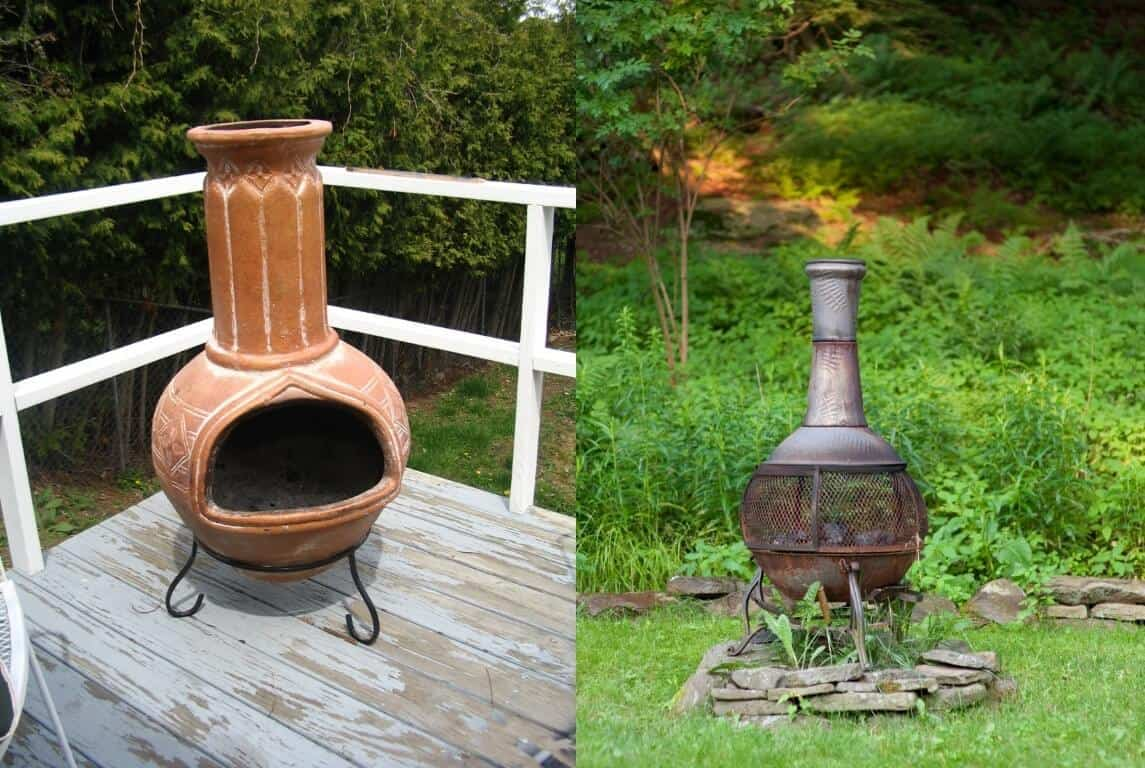 Best Chiminea Clay Or Cast Iron Growing And Gathering