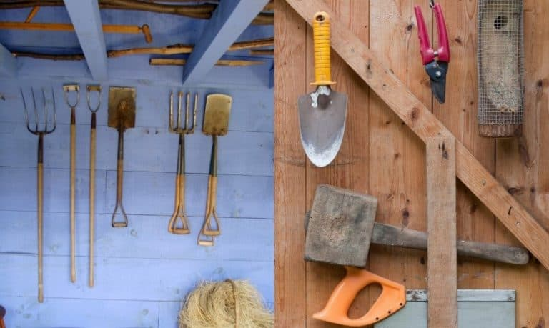 Store your tools in an outside shed